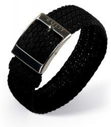 EULIT Palma egyrészes perlon óraszíj, fekete 20mm
