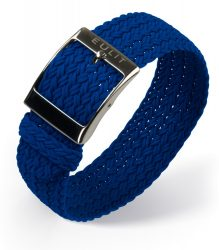 EULIT Palma egyrészes perlon óraszíj, kék 20mm