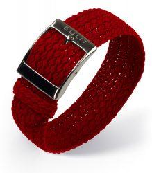 EULIT Palma egyrészes perlon óraszíj, piros 22mm