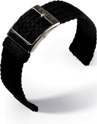 EULIT Palma Pacific perlon kétrészes óraszíj, fekete 18mm