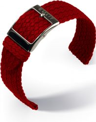 EULIT Palma Pacific perlon kétrészes óraszíj, piros 20mm