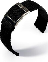 EULIT Palma Pacific perlon kétrészes óraszíj, fekete 22mm