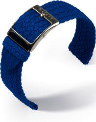 EULIT Palma Pacific perlon kétrészes óraszíj, kék 22mm