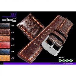 Diloy P. Vacuno bőr óraszíj, sötétbarna, 22mm
