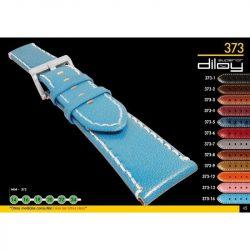 Diloy Piel Vacuno bőr óraszíj, kék, 20mm