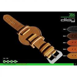 Diloy Piel Toro bőr óraszíj, fekete, 22mm