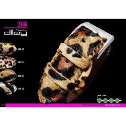 Diloy Leopardo bőr óraszíj, tigris mintás, 22mm