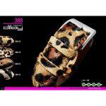 Diloy Leopardo bőr óraszíj, zebra mintás