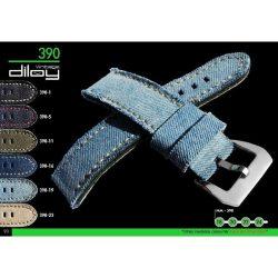 Diloy Jeans farmer óraszíj, navy kék, 22mm