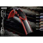 Diloy Hybrid szilikon óraszíj, fekete/narancs, 22mm