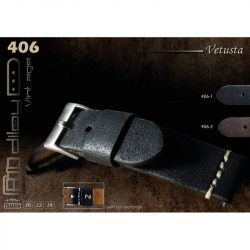 Diloy Vetusta bőr óraszíj, sötétbarna, 22mm