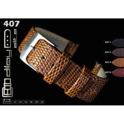 Diloy Komodo bőr óraszíj, fekete, 22mm