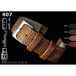 Diloy Komodo bőr óraszíj, középbarna, 22mm
