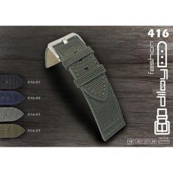 Diloy Kevlar Type bőr óraszíj, fekete, 20mm