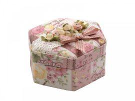 Rózsaszín ékszertartó doboz tükörrel