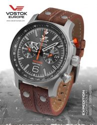 VOSTOK EUROPE EXPEDITION NORTH POLE 1 TITANIUM 6S21-595H298