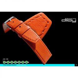Diloy Piel Vacuno bőr óraszíj, világos barna, 22mm