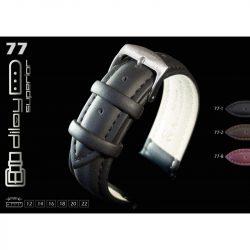 Diloy Engrasa bőr óraszíj, fekete, 20mm