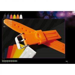 Diloy szilikon óraszíj, narancs, 20mm