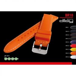 Diloy szilikon óraszíj, fekete/narancs, 22mm