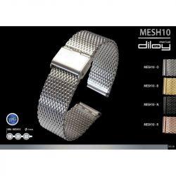 Diloy acél MESH10 óraszíj, rozé arany, 20mm