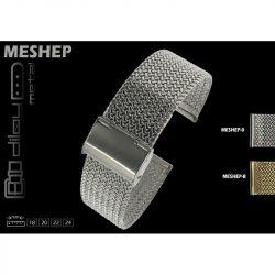Diloy acél MESHEP óraszíj, ezüst, 22mm