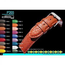 Diloy Toro bőr óraszíj, fekete, 20mm