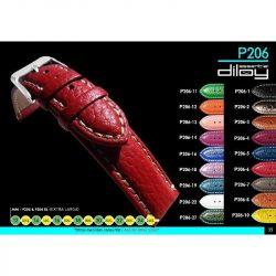 Diloy Toro bőr óraszíj, burgundy, 22mm