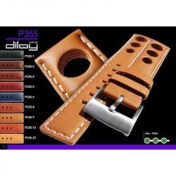 Diloy Vacuno Elite bőr óraszíj, középbarna, 20mm