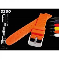 Diloy szilikon óraszíj, piros, 20mm