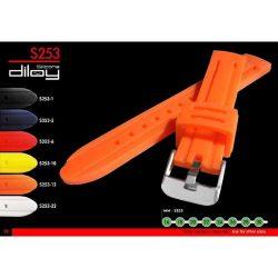 Diloy Silicona szilikon óraszíj, narancs