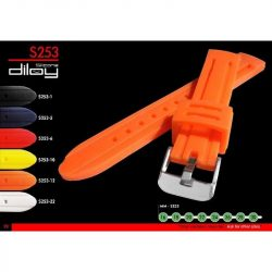 Diloy Silicona szilikon óraszíj, piros