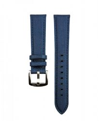 WB Original Cordura® szövet/bőr óraszíj, navy kék, 20mm
